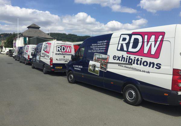 RDW Exhibitions' vans