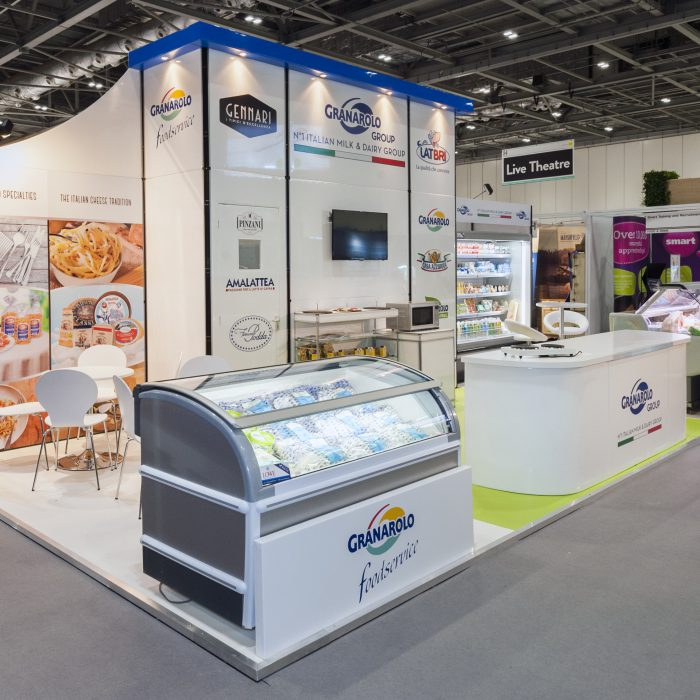 Exhibition stand design for Granarolo
