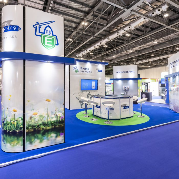 Exhibition stand design for Evans Vanodine
