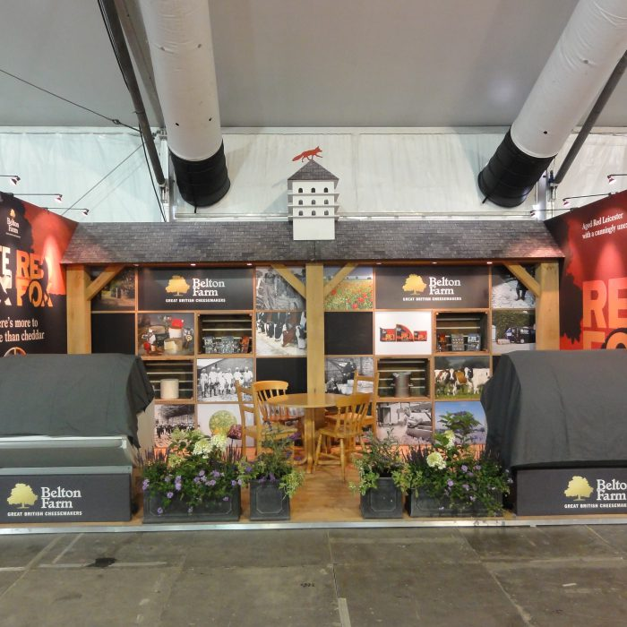 Exhibition stand design for Belton Farm