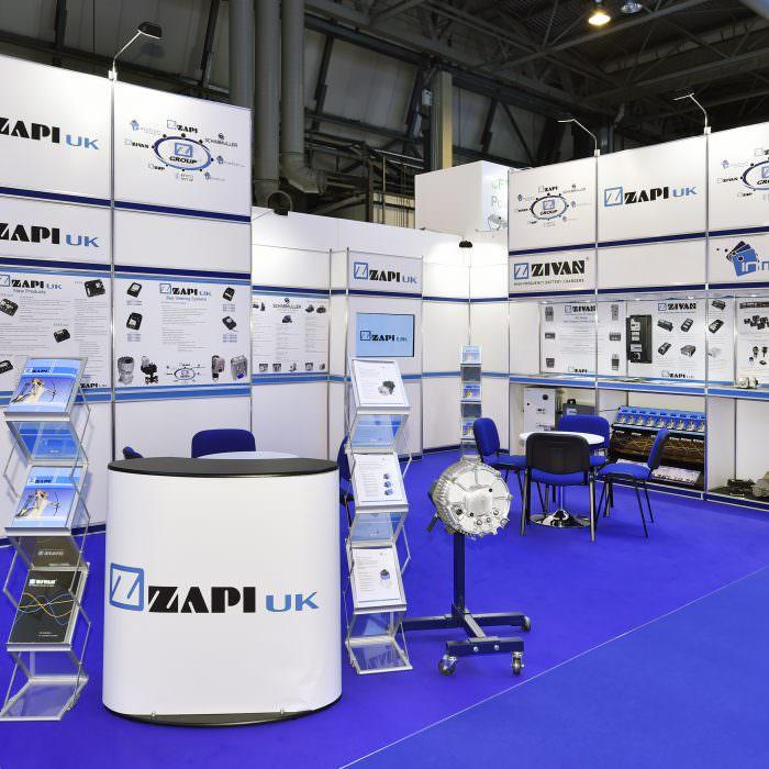 Exhibition stand design for ZAPI UK