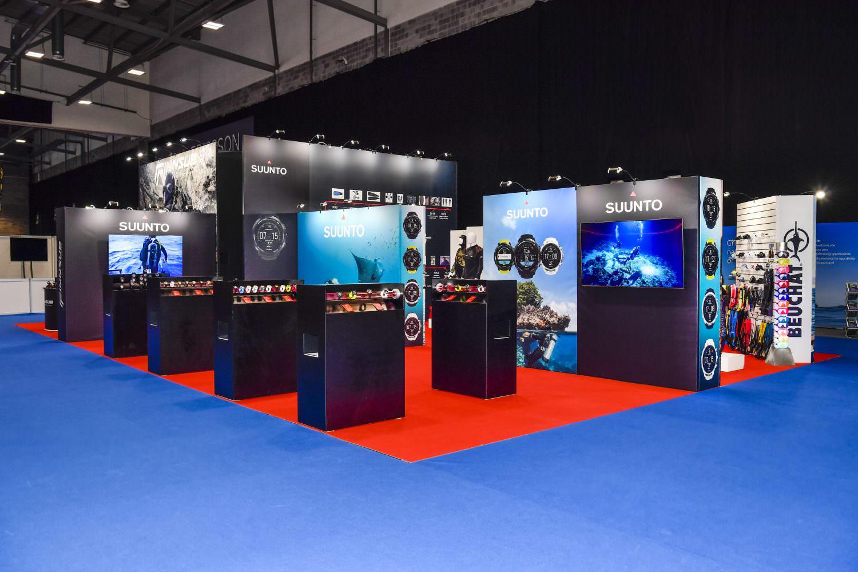 Custom built exhibition stand design for Suunto