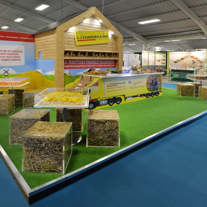 Exhibition stand design for L J Fairburn & Son