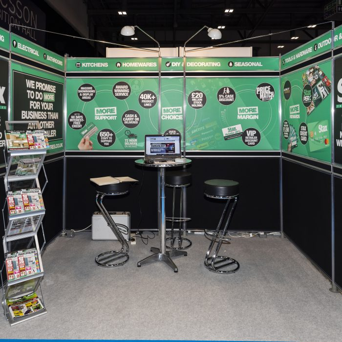 Exhibition stand design for Stax Trade Centre
