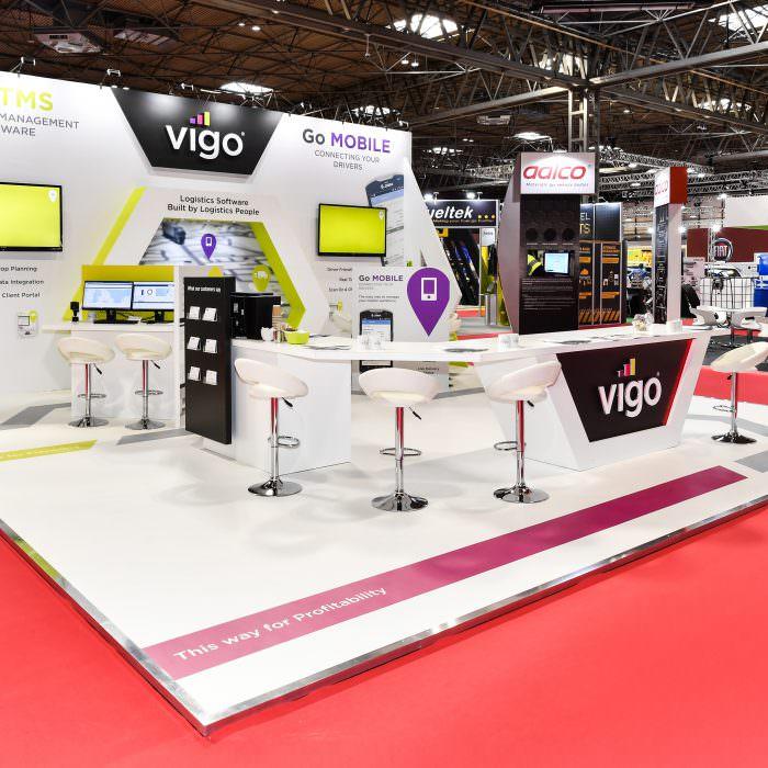 Exhibition stand design for Vigo Software