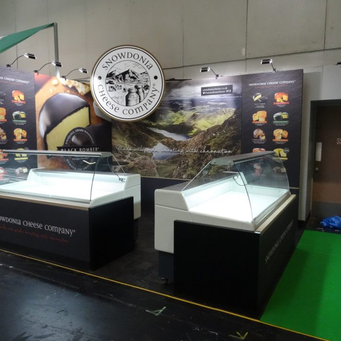 Exhibition stand design for Snowdonia Cheese
