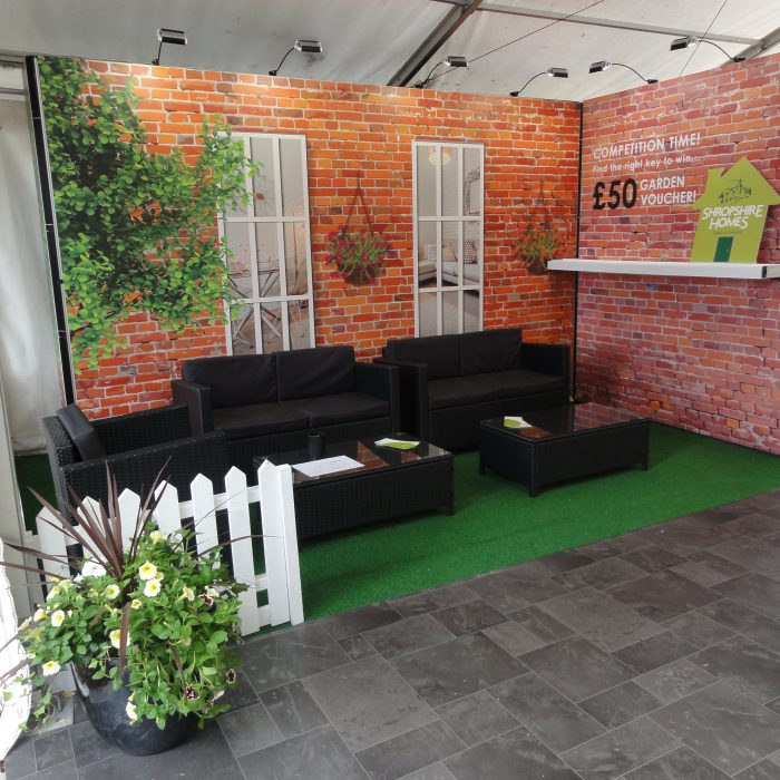 Exhibition stand design for Shropshire Homes