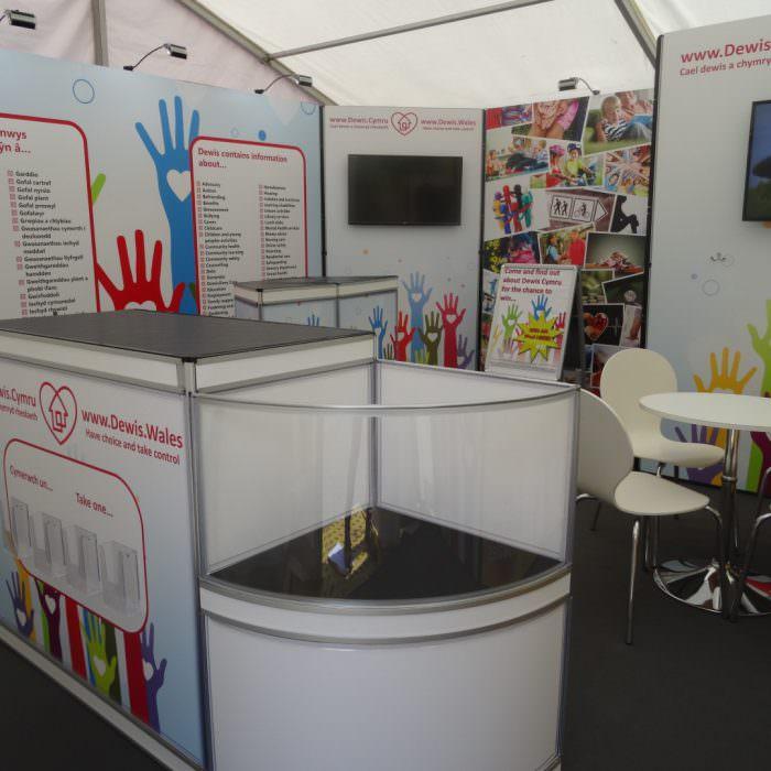 Exhibition stand for Data Cymru