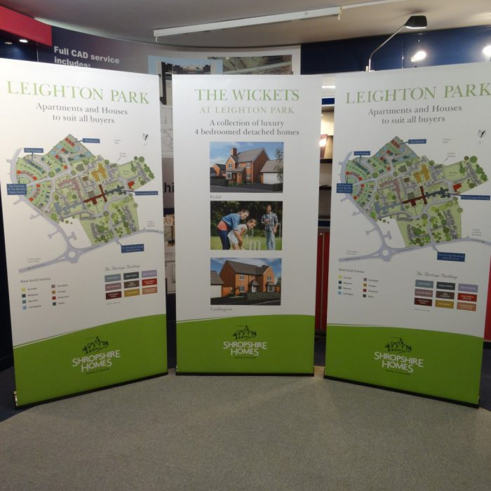 Exhibition stand for Shropshire Homes