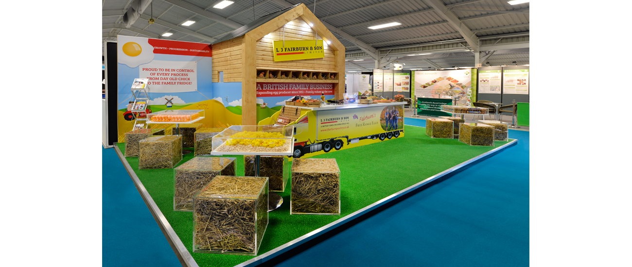 Custom built exhibition stand for L J Fairburn & Son