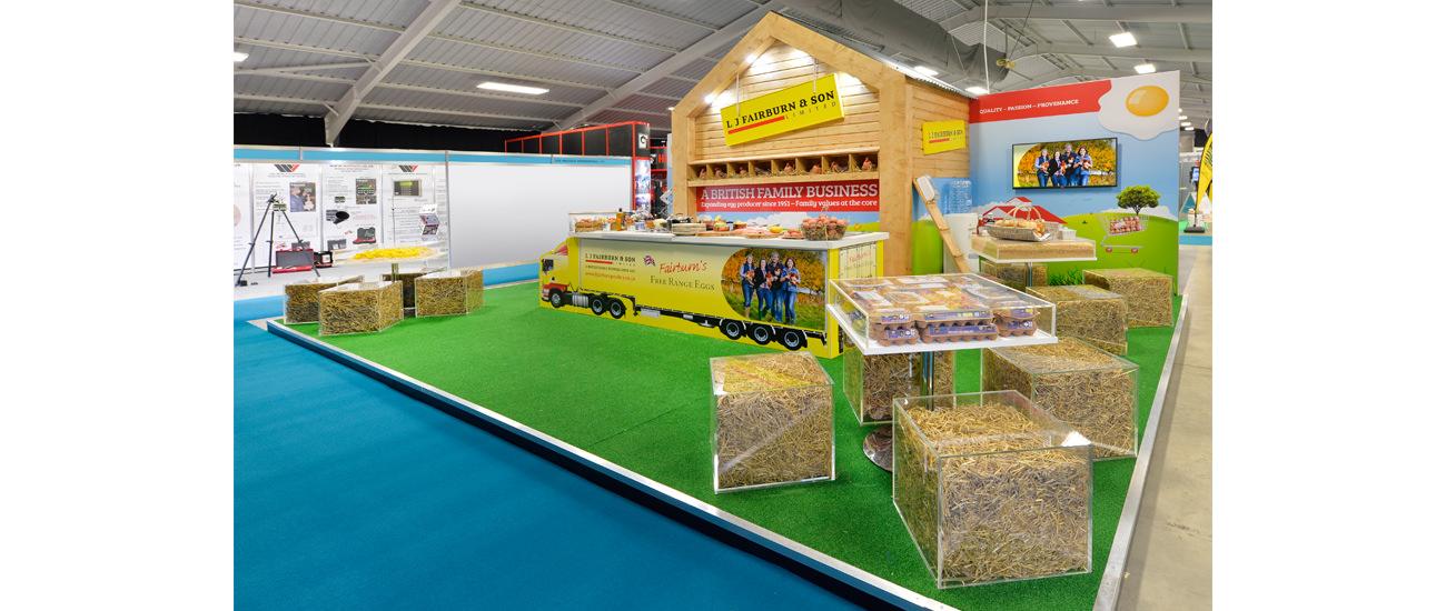 Custom built exhibition stand for L J Fairburn & Son