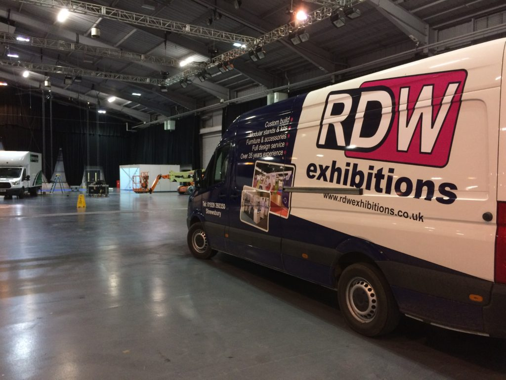 RDW Van at UK Dairy Day in Telford International Centre