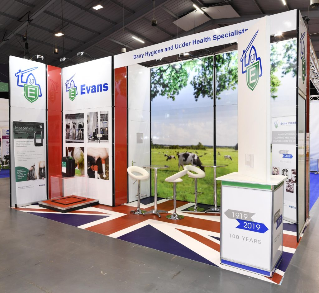 Our exhibition stands at UK Dairy Day 2019