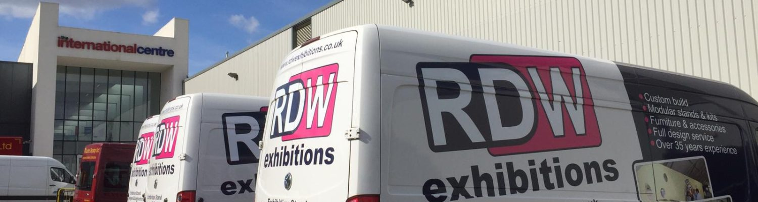 RDW Exhibitions' vans at UK Dairy Day 2019