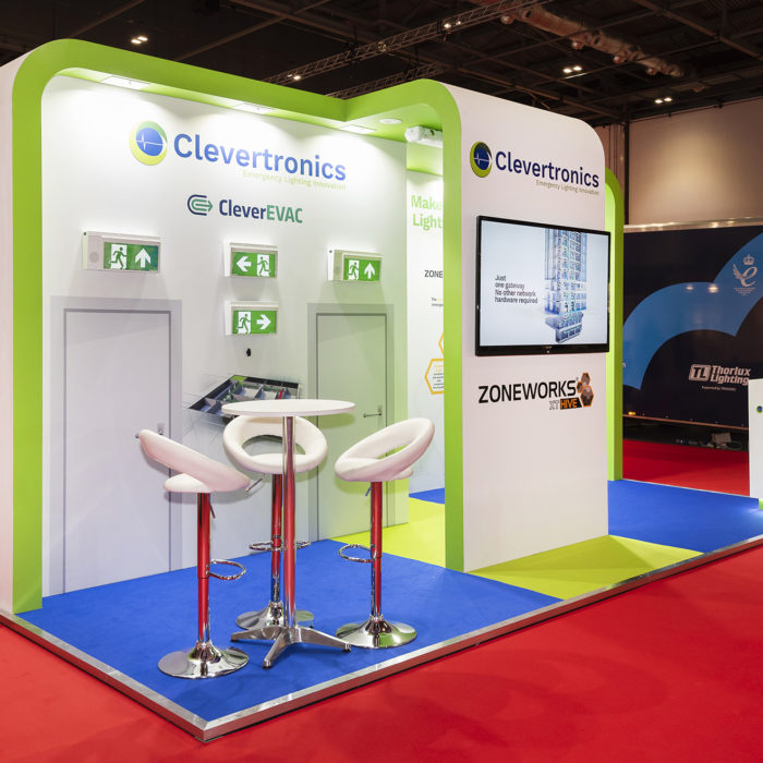 Exhibition stand design for Clevertronics