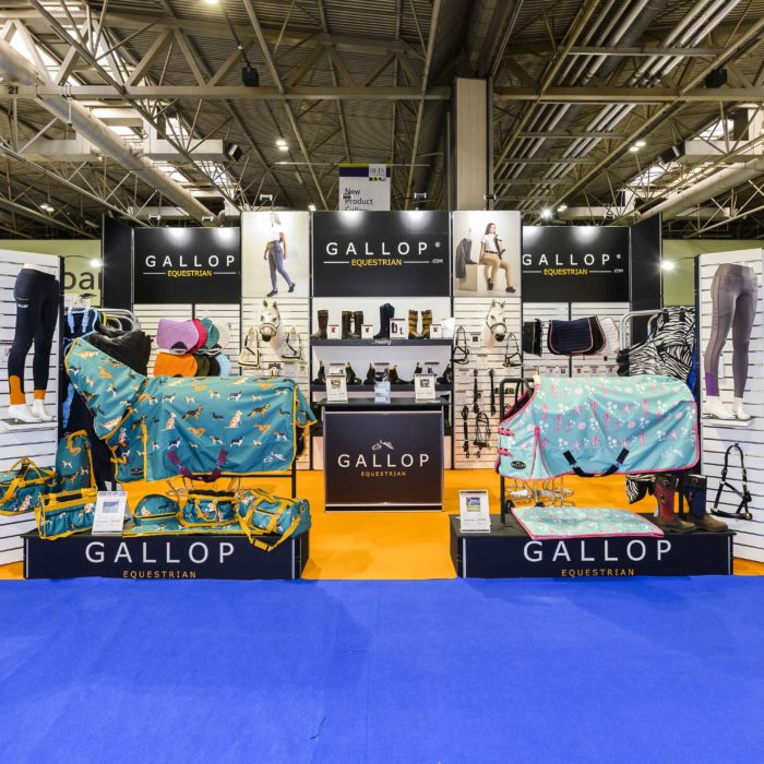 Exhibition stand design for Gallop Equestrian