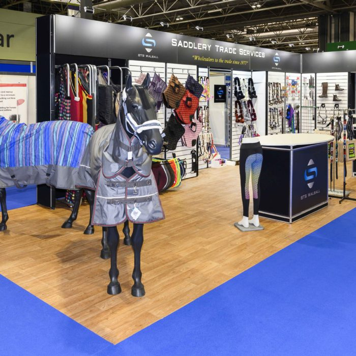 Exhibition stand design for Saddlery Trade Services