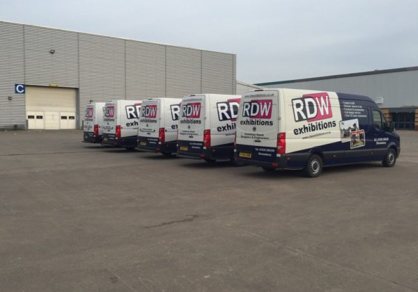 RDW Exhibitions' vans