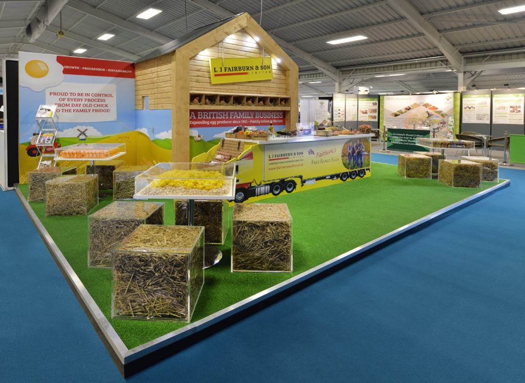 L J Fairburn & Son's exhibition stand at Pig & Poultry