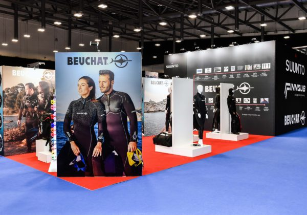 Suunto's exhibition stand at Go Diving
